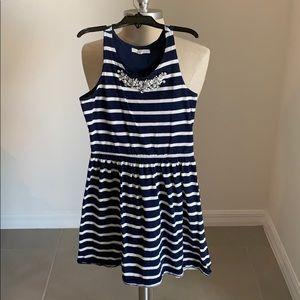 COPPER KEY BLUE/WHITE TANK EMBELLISHED DRESS GU S